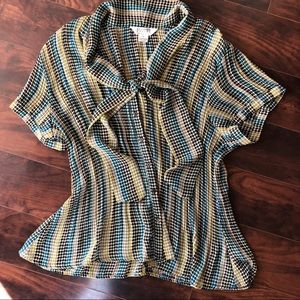 Allison Taylor Plus Size Tie Blouse